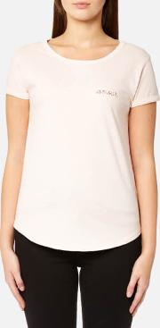 women's amour t shirt rose chine m red
