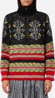 women's special jacquard knitted jumper combo b s multi