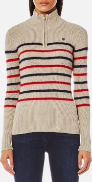Women's Fitted Pullover With Zip Detail Combo A