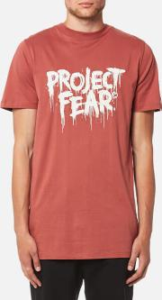 Men's Discord Project Fear T Shirt Rust L Red