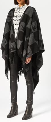 Women's Swallow Checkerboard Poncho