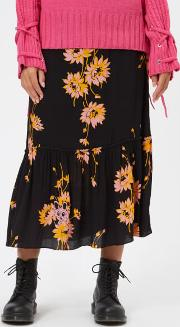 Women's Volume Midi Skirt