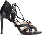 Women's Mirabel Leather High Heeled Sandals Black
