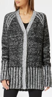 Women's Silver Black Cardigan