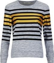 Women's Empire Navy Stripe Detail Sweatshirt Navy Uk 8