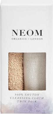 Organics London 100 Cotton Cleansing Cloth Twin Pack