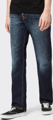 Men's Sleepy Sixteen Straight Jeans Authentic Dark W32l34