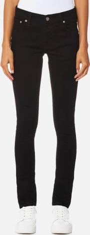 women's tight terry jeans deep black w26l32 black