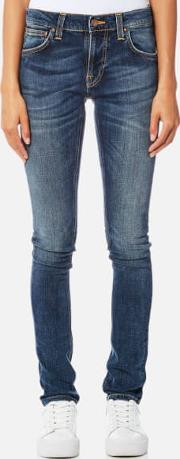 women's tight terry jeans double indigo w26l32 blue