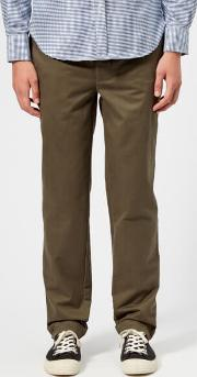 Officine Generale Men's Fisherman Chino Trousers Olive