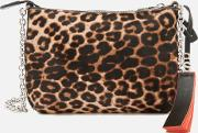 women's evening clutch bag leopard
