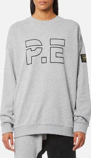 women's heads up sweatshirt grey marl l grey