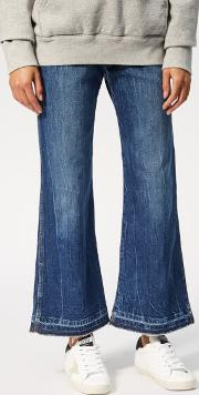 Women's Cropped Flare Jeans