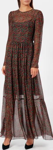 Women's Flower Print Long Dress