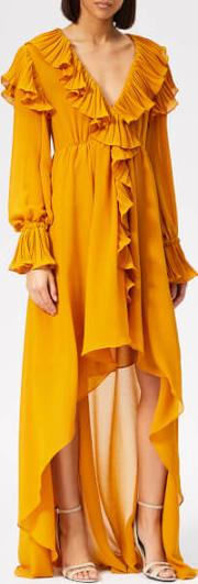 Women's Ruffle Detail Midi Dress
