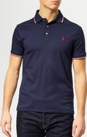 Men's Custom Slim Fit Tipped Pima Polo Shirt