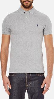 Men's Slim Fit Short Sleeved Polo Shirt Andover Heather