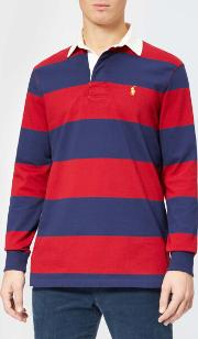 Men's Stripe Long Sleeve Rugby Shirt