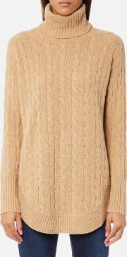 Women's Turtle Neck Jumper Camel