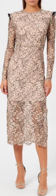 Women's French Corded Lace Cameron Dress Nude