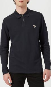 Men's Regular Fit Long Sleeve Polo Shirt Dark