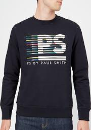 Men's Regular Fit Stripe Logo Sweatshirt