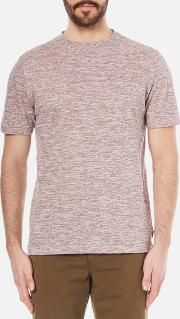 Men's Textured Crew Neck T Shirt