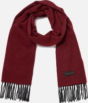 Men's Twill Cashmere Scarf Red
