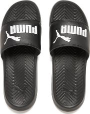 Men's Popcat Slide Sandals Blackblackwhite