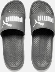 Men's Popcat Slide Sandals Greywhite