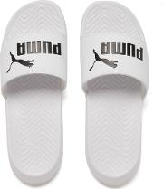 Men's Popcat Slide Sandals Whiteblack