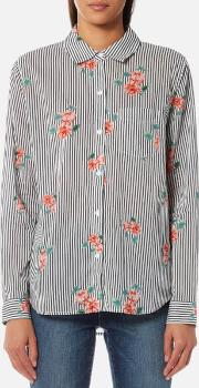 women's taylor shirt with flowers florence stripe xs multi