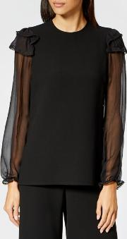 See By Chloe Women's Embellished Crepe Blouse