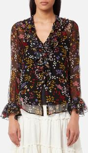 See By Chloe Women's Floral Nights Blouse
