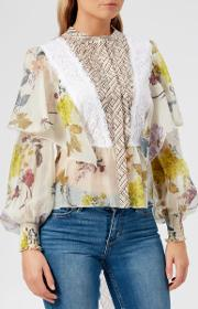 See By Chloe Women's Floral Patchwork Blouse Multicoloured