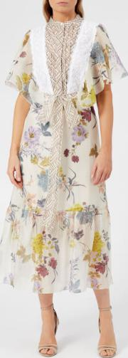 See By Chloe Women's Floral Patchwork Dress Multicoloured