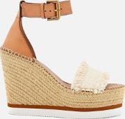 See By Chloe Women's Glyn Canvas Espadrille Wedge Sandals