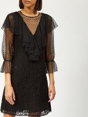 See By Chloe Women's Lace And Mesh Dress