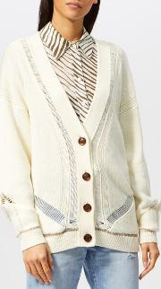 See By Chloe Women's Ladder Stitch Knit Cardigan