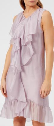 See By Chloe Women's Organza And Flounce Dress Lavender Frost Fr