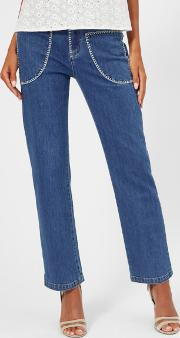 See By Chloe Women's Stone Wash Jeans Shady Cobalt