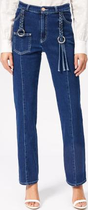 See By Chloe Women's Tassel Detail Jeans