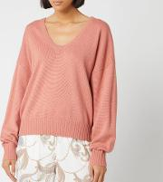 See By Chloe Women's V Neck Knit Jumper