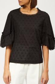 See By Chloe Women's Voile Dotted Blouse