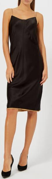 Women's Wash And Go Dress With Contrast Trim Blackcamel Us
