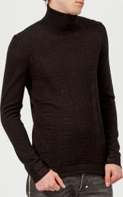 Men's Roll Neck Knit Jumper