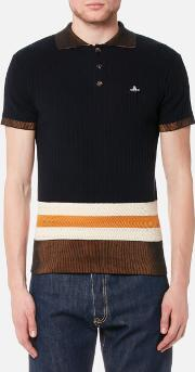 Men's Knitted Polo Shirt Navy