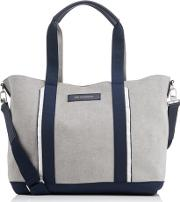De La Vie Men's Marti Open Tote Bag Pebblenavy