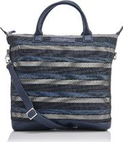 De La Vie Men's O Hare Shopper Tote Bag Blue