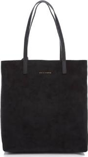 Women's Logan Vertical Tote Bag Black Suedejet Black